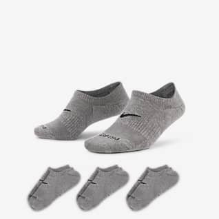 Nike Everyday Plus Cushioned Calcetines invisibles de entrenamiento para mujer (3 pares)