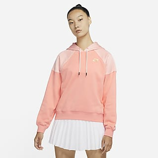Serena Design Crew เสื้อเทนนิสมีฮู้ดผ้าฟลีซผู้หญิง