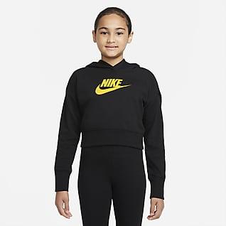 Nike Sportswear Club Укороченная худи из трикотажа френч терри для девочек школьного возраста