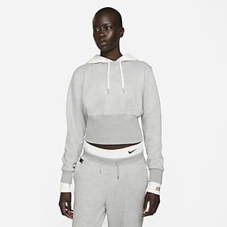Nike Sportswear Icon Clash Felpa Easy in fleece con cappuccio - Donna