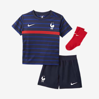 Equipamento principal FFF 2020 Equipamento de futebol para bebé