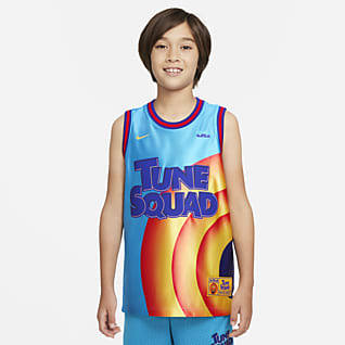 Nike Dri-FIT x Space Jam: A New Legacy Camiseta de básquetbol para niños talla grande