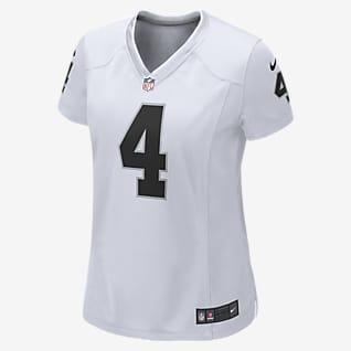 NFL Oakland Raiders (Derek Carr) Women's Game Football Jersey