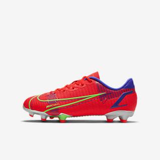 Nike Jr. Mercurial Vapor 14 Academy FG/MG Chaussure de football à crampons multi-surfaces pour Jeune enfant/Enfant plus âgé