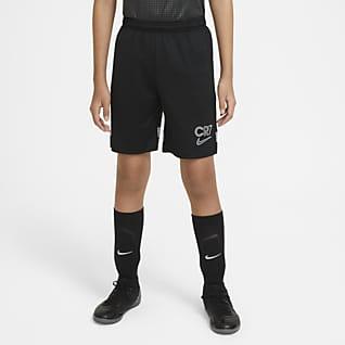 Nike Dri-FIT CR7 Shorts de fútbol tejidos para niños talla grande