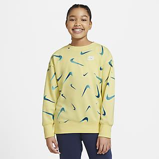 Nike Sportswear Frottégenser med trykk til store barn (jente)