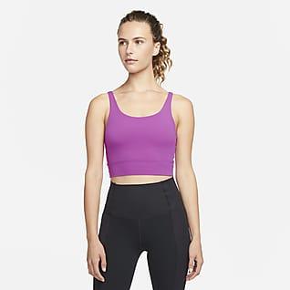Nike Yoga Luxe Dámské zkrácené tílko z Infinalonu