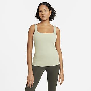 Nike Yoga Luxe Damen-Tanktop mit integriertem Sport-BH