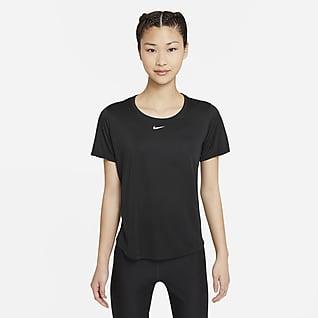 Nike Dri-FIT One เสื้อแขนสั้นทรงมาตรฐานผู้หญิง
