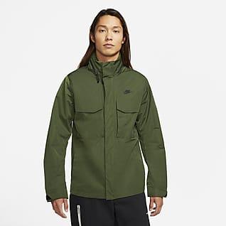 Nike Sportswear Premium Essentials เสื้อแจ็คเก็ตมีฮู้ดแบบไม่มีซับในผู้ชาย M65