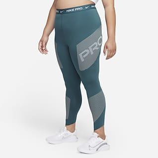 Nike Pro Dri-FIT Women's High-Waisted 7/8 Graphic Leggings (Plus Size)