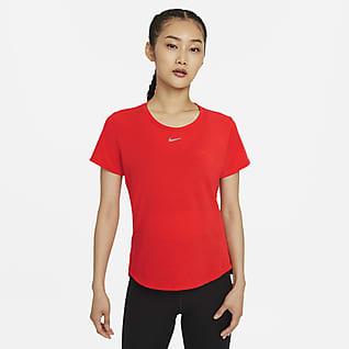 Nike Dri-FIT One Luxe เสื้อแขนสั้นทรงมาตรฐานผู้หญิง