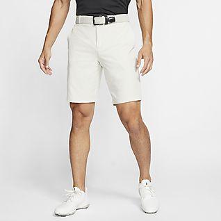 white nike golf shorts