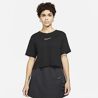 Nike Sportswear Rövid szabású, mintás női póló