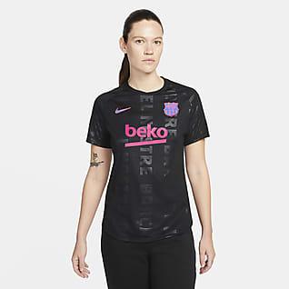 FC Barcelona Haut de football d'avant-match Nike Dri-FIT pour Femme