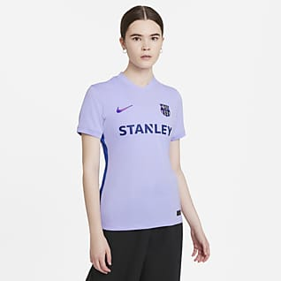 Εκτός έδρας Μπαρτσελόνα 2021/22 Stadium Γυναικεία ποδοσφαιρική φανέλα Nike Dri-FIT