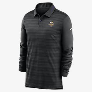 Nike Logo (NFL Vikings) Men's Long-Sleeve Polo