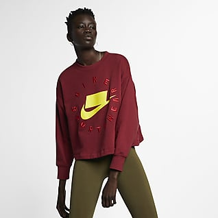 Nike Sportswear NSW Sudadera de cuello redondo French Terry para mujer