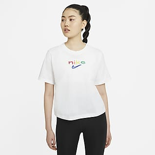 Nike Dri-FIT Women's Boxy Rainbow Training T-Shirt