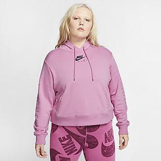 Nike Air Sudadera con capucha de tejido Fleece (Talla grande) - Mujer