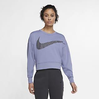 Nike Dri-FIT Get Fit Sparkle treningsoverdel i fleece til dame