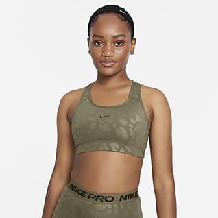 Nike Pro Dri-FIT Swoosh Bra deportivo de leopardo de media sujeción para mujer
