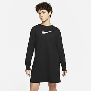 Nike Sportswear Damska sukienka z długim rękawem do tańca