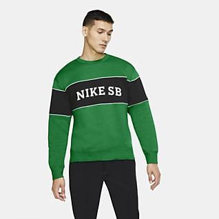 Nike SB Skateboardtröja med rund hals för män