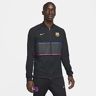 FC Barcelona Veste de football entièrement zippée pour Homme