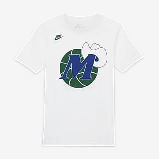 Dallas Mavericks Classic Edition Tee-shirt à logo Nike NBA pour Enfant plus âgé