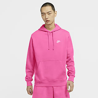 neon pink nike sweatshirt