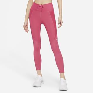 Nike Dri-FIT Femme Fast Løpeleggings i 7/8 lengde til dame