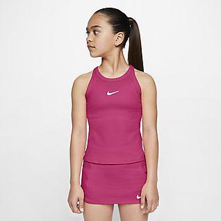 NikeCourt Dri-FIT Tennislinne för ungdom (tjejer)