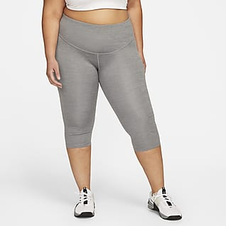 Nike One Leggings capri de tiro medio para mujer talla grande