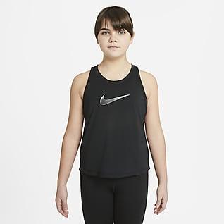Nike Dri-FIT Trophy Treningssinglet til store barn (jente) (utvidet størrelse)