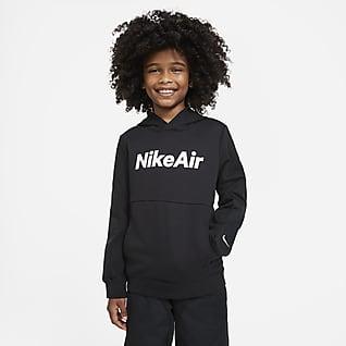 Nike Air Sudadera con capucha sin cierre de French Terry para niño talla grande