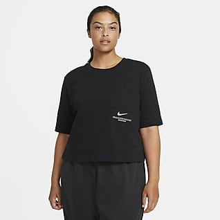Nike Sportswear Swoosh Camiseta de manga corta para mujer (talla grande)