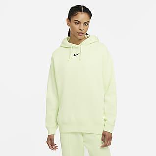 Nike Sportswear Essential Collection Túlméretezett, kapucnis női polárpulóver