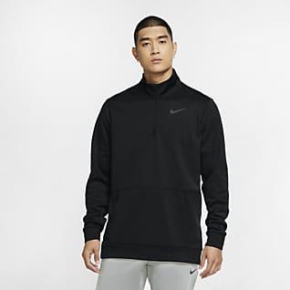 Nike Therma Prenda para la parte superior de entrenamiento con cierre de 1/4 y manga larga para hombre