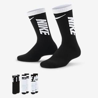 Nike Everyday Calcetines deportivos con amortiguación para niños (3 pares)