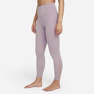 Nike Yoga Dri-FIT Leggings i 7/8-längd med hög midja och utskärningar för kvinnor