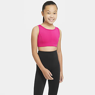Nike Swoosh Luxe Sports-bh til store børn (piger)