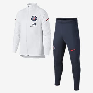 Paris Saint-Germain Strike Survêtement de football en maille pour Enfant plus âgé
