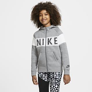 Nike Sportswear Big Kids' (Girls') Graphic Full-Zip Hoodie