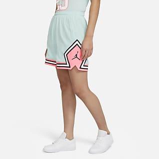 Jordan Essential Damenshorts mit diamantförmigen Akzenten