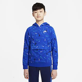 Nike Sportswear Club Big Kids' (Boys') Printed Pullover Hoodie