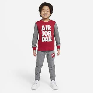 Jordan Jumpman Air Conjunto de pantalones y sudadera de cuello redondo para niños talla pequeña