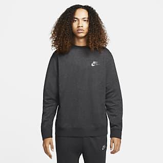 Nike Sportswear Sport Essentials+ Halfgeborstelde herentop met ronde hals