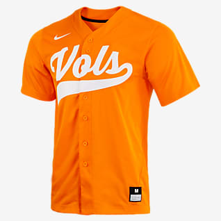 Nike College (Tennessee) Men's Full-Button Baseball Jersey