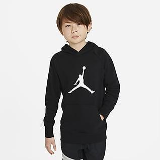 Jordan Sudadera con capucha sin cierre para niño talla grande